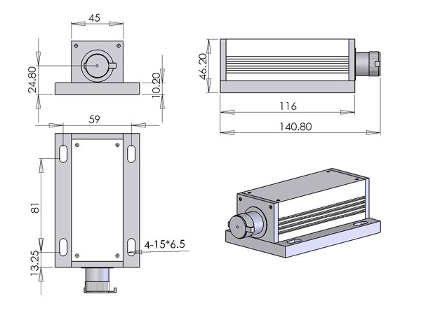 M Series 532nm Laser, 1-300mW